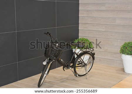 view of a bike - stock photo
