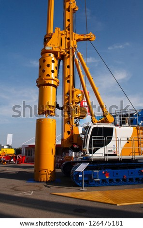 View of a brand new drilling machine