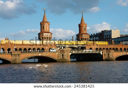 View of a bridge in Berlin  Germany - stock photo