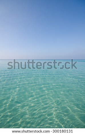 View of a clear waters of a tropical ocean - stock photo