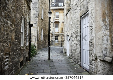 View of a Dark Alley - stock photo