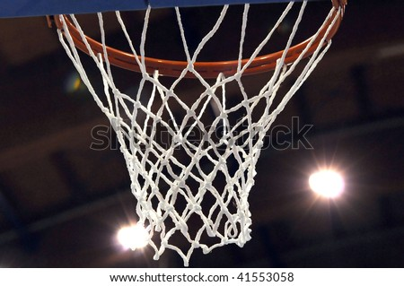 View of a detail of a modern basketball arena - stock photo