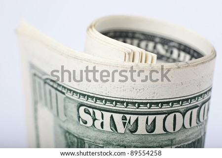 view of a 100 dollar United States treasury note - stock photo