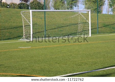 View of a football empty goal - stock photo