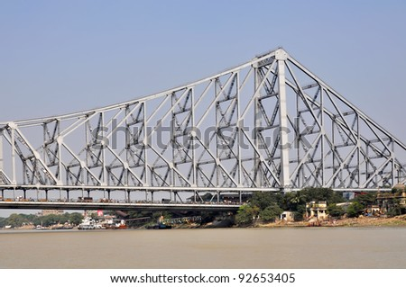 View of a Howrah Bidge in Kolkata India.