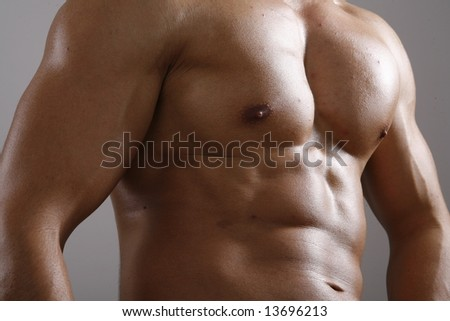 View of a muscular man