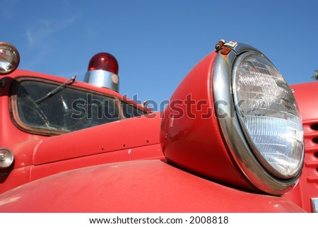 View of a old fire truck - stock photo