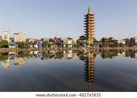 View of a pagoda in Hai Phong, Vietnam