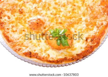view of a part of Four Cheeses Pizza