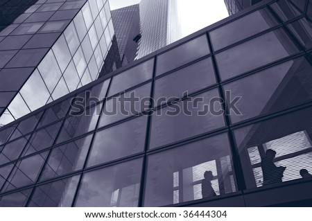 View of a passage between buildings - stock photo
