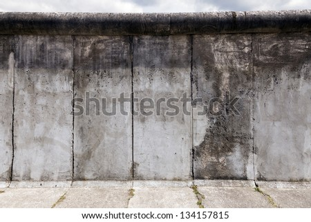 View of a section of the original east-west Berlin wall, part of the Berlin Wall Memorial at Bernauer strasse, east Berlin, Germany. - stock photo