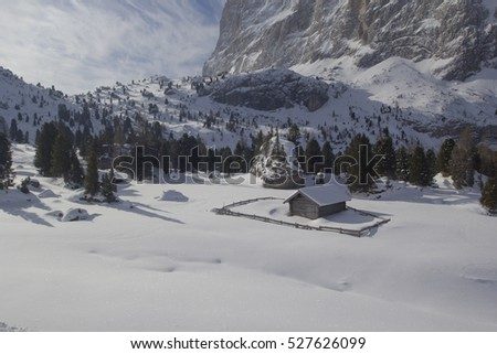 View of a ski resort area in Italy