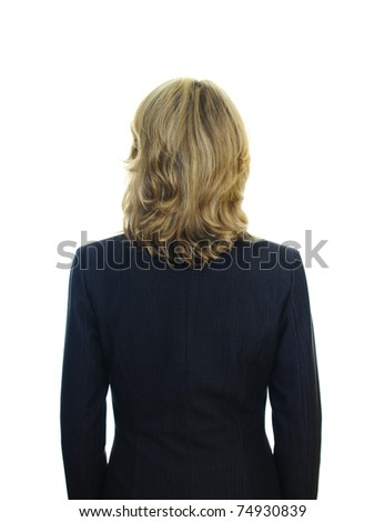view of a woman'n back in business suit - stock photo