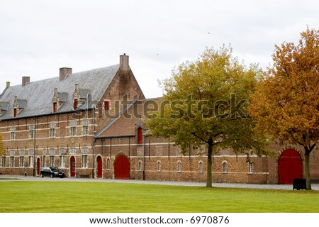 View of Abbey in Tongerlo - stock photo