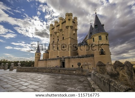 View of Alcazar of Segovia, Castilla-Leon, Spain
