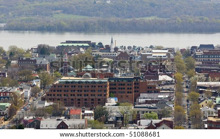 View of Alexandria, Virginia,  near Washington DC - stock photo