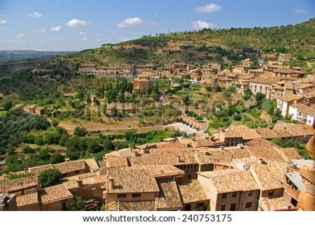 View of Alquezar in Huesca.Aragon.Spain - stock photo