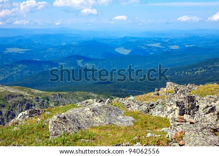 View of  Altai mountains. Russia