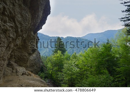 View of Alum Cave in the Great Smoky Mountains National Park