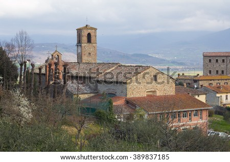 View of Anghiari, beautiful medieval village in Tuscany, Italy