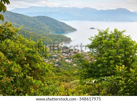 View of Angra Dos Reis. Ilha Grande, Brazil.   - stock photo