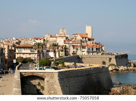 View of Antibes, South of France - stock photo