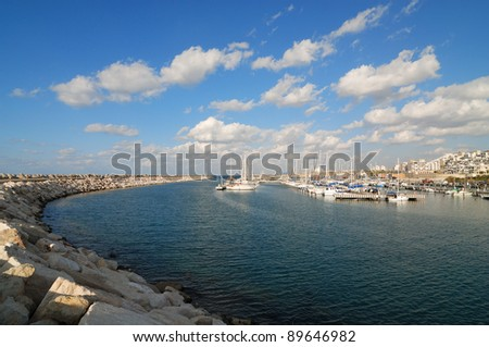 view of Ashqelon marina (Israel)