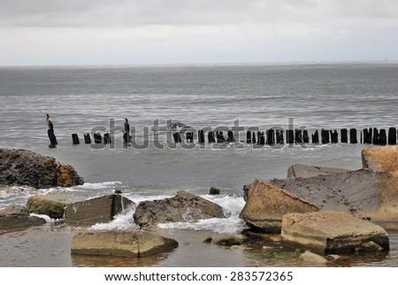 View of Baltic sea. Baltic spit, Kaliningrad region, Russia. - stock photo