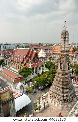 View of Bangkok from the Wat Arun. Thailand. - stock photo