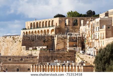 View of Barrakka Gardens in Valletta. Malta. - stock photo