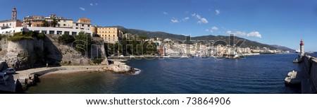 view of Bastia - Corsica - France - stock photo