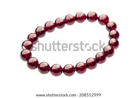 view of beads - stock photo