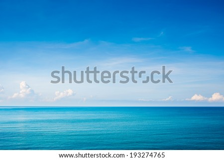 View of beautiful sky with sea  - stock photo