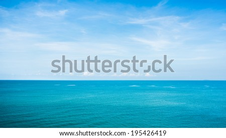 View of beautiful sky with sea