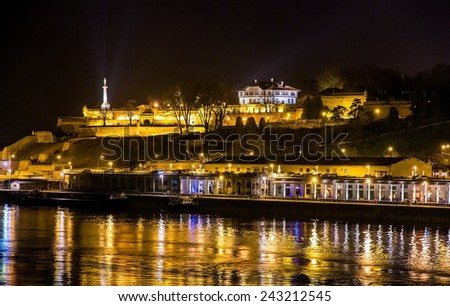 View of Belgrade Fortress over the Sava river - Serbia - stock photo