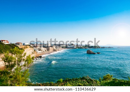 View of Biarritz city center, France - stock photo