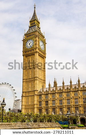 View of Big Ben - London, England - stock photo