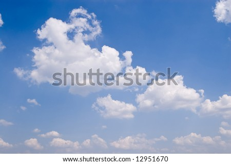 view of blue sky with white clouds