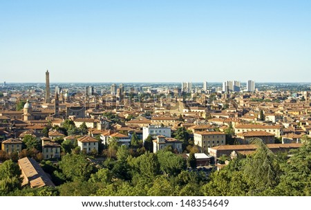 view of bologna - italy
