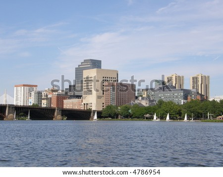 View of Boston's Skyline - stock photo
