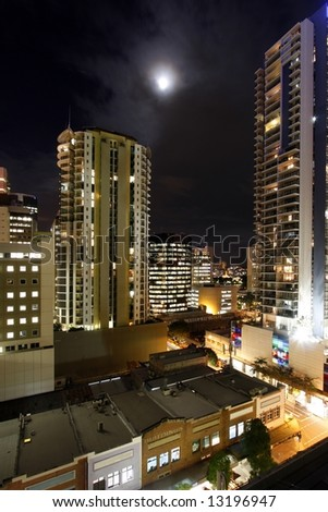 View of Brisbane Down town  (part) - stock photo