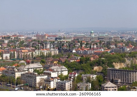 View of Budapest from Sashegy - stock photo