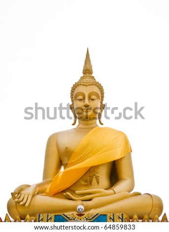 View of buddha statue in gold