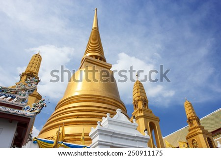 View of Buddha temple in the center of Bangkok, Thailand  - stock photo
