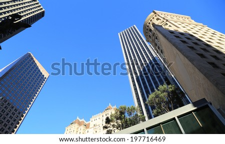 View of buildings in downtown of San Francisco