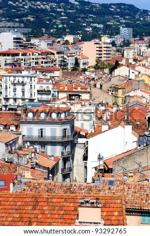 View of Cannes, France - stock photo