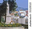 view of cannes from the old town le suquet alpes maritime provence south of france cote d'azur france - stock photo