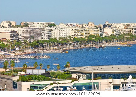 View of Cannes, South of France - stock photo