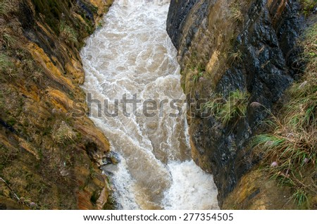 View of Canyon , Peru - stock photo