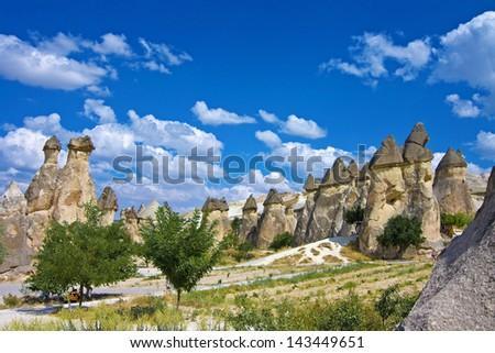 view of cappadocia - turkey - stock photo